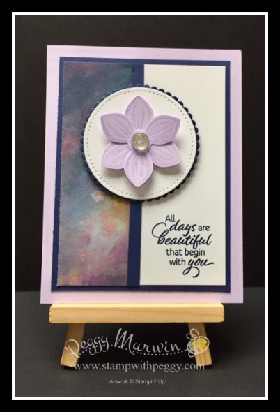 Floral Essence Stamp Set, Perennial Essence Designer Paper, Purple Posy In Color, Stamp with Peggy