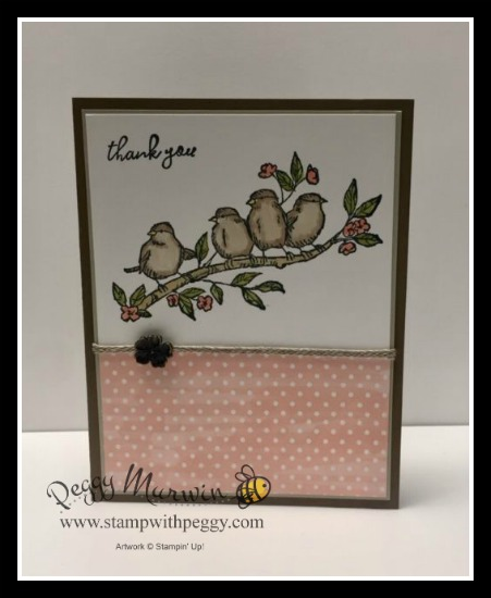 Free As a Bird Stamp Set, Bird Ballad Designer Paper, Linen Trim, Stamp with Peggy