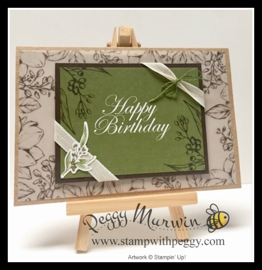Magnolia Lane Memories & More Card Pack, Happy Birthday, Stamp with Peggy