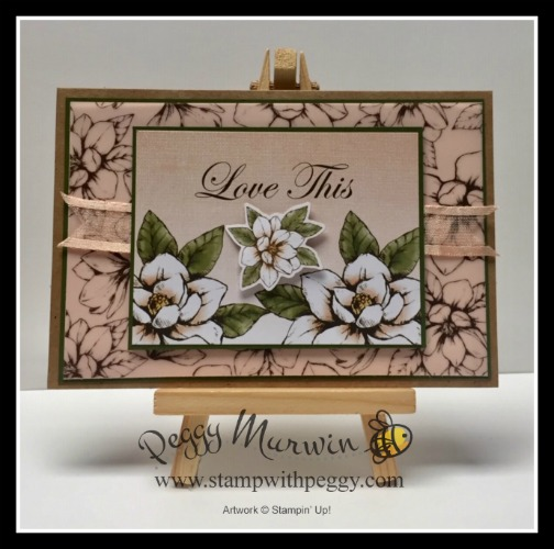 Magnolia Lane Memories & More Card Pack, Magnolia Lane Large Specialty Cards & Envelopes, Love This, Stamp with Peggy