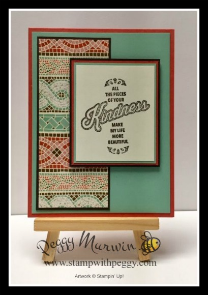 Memorable Mosaic Stamp Set, Mosaic Mood Specialty Designer Paper, Kindness, Stamp with Peggy