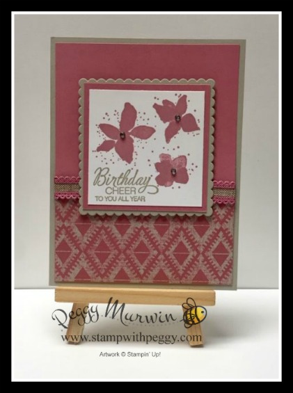 "Parcels & Petals Stamp Set, Woven Threads Designer Paper, Rococo Rose 1/2"" Scalloped Ribbon"