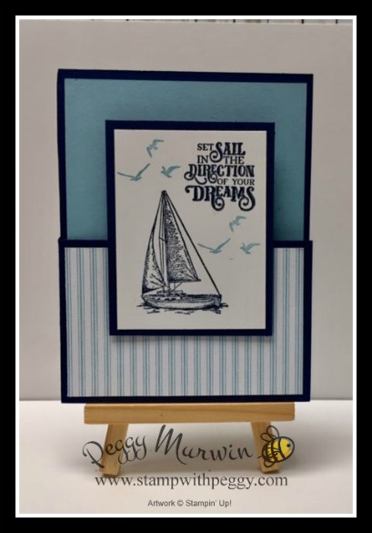 Sail Away Stamp Set, Come Sail Away Designer Paper, Graduation Card, Stamp with Peggy
