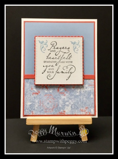 Woven Heirlooms Stamp Set, Woven Threads Designer Paper, Sympathy, Stamp with Peggy