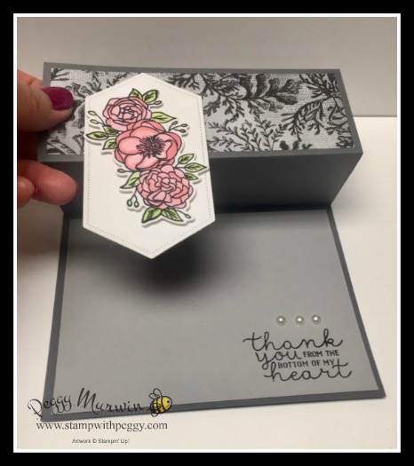 Bloom & Grown Stamp Set, Budding Blooms Dies, Come Sail Away Designer Paper, Thank You, Stamp with Peggy