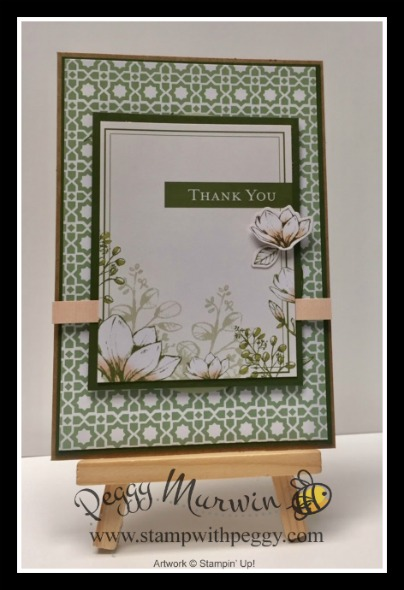 Magnolia Lane Memories & More Card Pack, Thank You, Stamp with Peggy