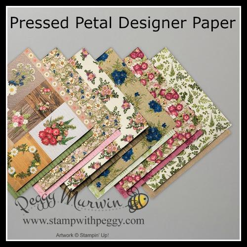 Pressed Petal Designer Paper, Stamp with Peggy