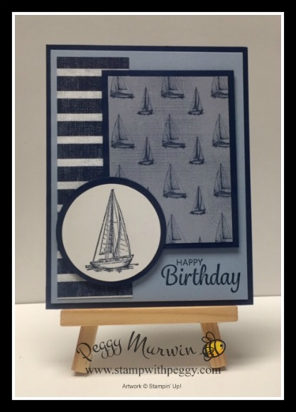 Come Sail Away Suite, Sailing Home Stamp Set, Smooth Sailing Dies, Come Sail Away Designer Paper, Masculine, Stamp with Peggy