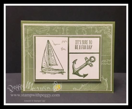 Come Sail Away Suite, Sailing Home Stamp Set, Come Sail Away Designer Paper, Masculine, Stamp with Peggy