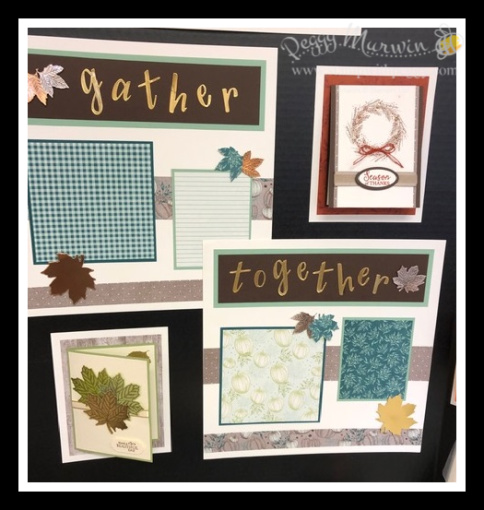Stampin' Sisters Holiday Hoopla, Come to Gather Suite, Stamp with Peggy