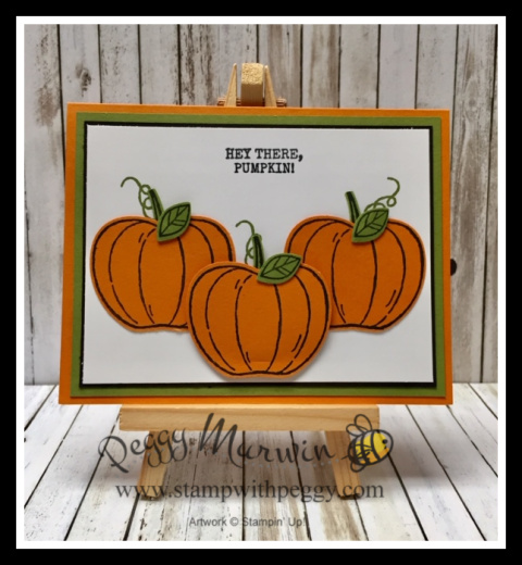 Harvest Hello Stamp Set, Apple Builder Punch, Halloween, Stamp with Peggy