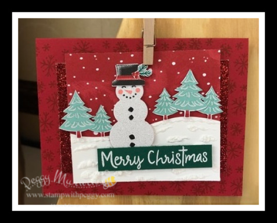 Stampin' Sisters Holiday Hoopla, Let it Snow Suite, Stamp with Peggy