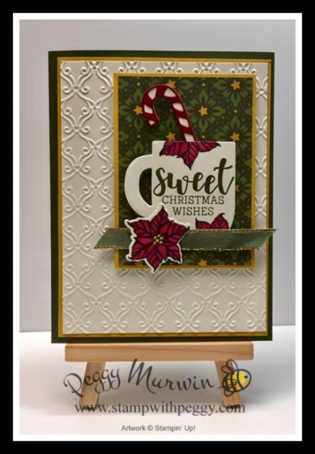 Cup of Cheer Stamp Set, Cup of Christmas Dies, Stylish Scroll Embossing Folder, Christmas Card, Stamp with Peggy