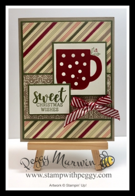 Cup of Cheer Stamp Set, Cup of Christmas Dies, Christmas Card, Stamp with Peggy
