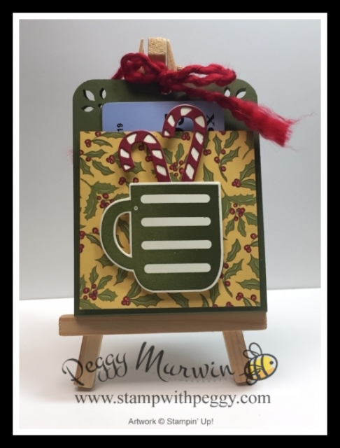 Cup of Cheer Stamp Set, Cup of Christmas Dies, Gift Card Holder, Christmas Card, Stamp with Peggy