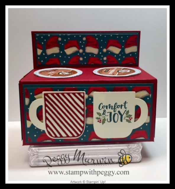 Cup of Cheer Stamp Set, Cup of Christmas Dies, Night Before Christmas Designer Paper, Hot Cocoa Holder, Christmas Card, Stamp with Peggy