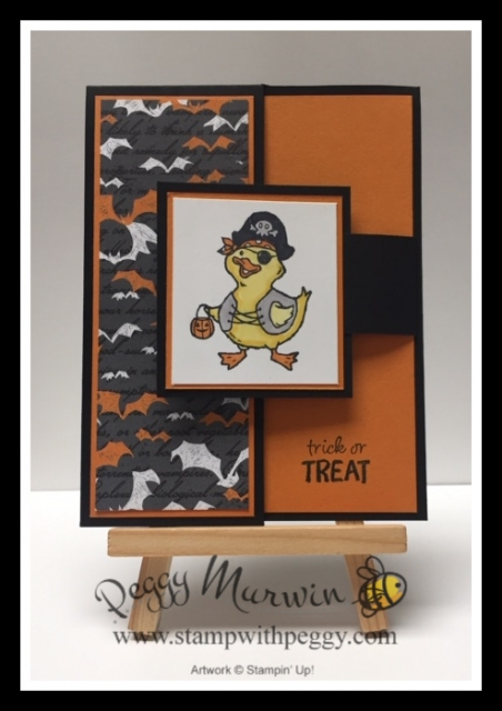 Birds of a Feather Stamp Set, Monster Bash Designer Paper, Halloween, Stamp with Peggy