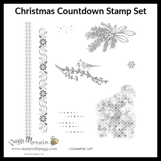 Christmas Countdown Project Kit, Advent Calendar, Christmas, Stamp with Peggy