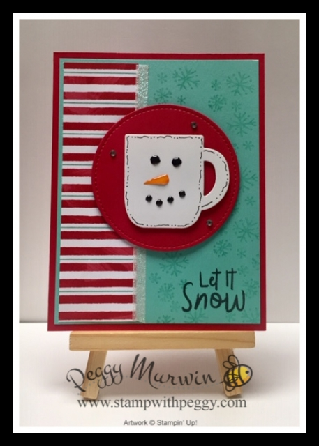 Let it Snow Suite, Snowman Season Stamp Set, Let It Snow Designer Paper, Let it Snow Embellishment Kit, Cup of Cheers Dies, Stitched Shapes Dies, Christmas, Stamp with Peggy