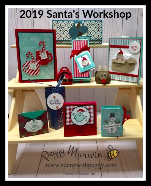 Santa's Workshop, Christmas Gifts, Treat Holders, Stamp with Peggy