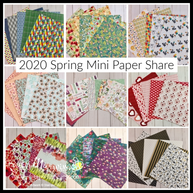 2020 Spring Mini Catalog, Paper Shares, Stamp with Peggy