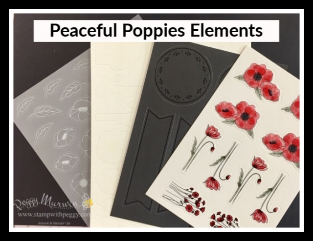 2020 Spring Mini, Product Shares, Peaceful Poppies Elements, Stamp with Peggy