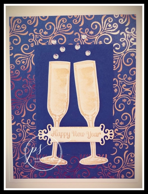 Sip, Sip, Hooray, New Year's, Stamp with Peggy