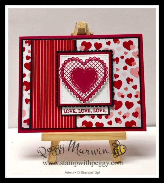 From My Heart Suite, Heartfelt Stamp Set, Heart Punch Pack, From My Heart Specialty Designer Paper, Valentine's Day, Stamp with Peggy