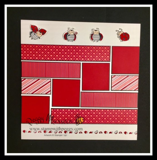 Little Ladybug Stamp Set, Ladybug Dies,From My Heart Designer Paper, Valentine's Day, February Scrapbook Pages,Love, Stamp with Peggy