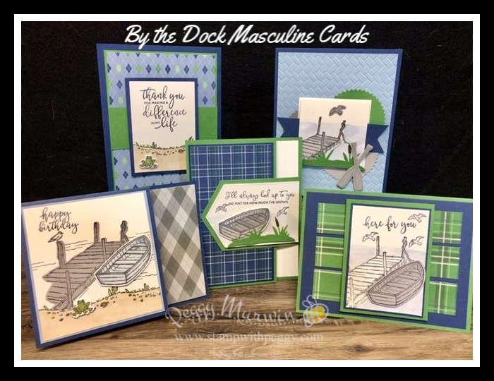 Stampin' Sisters Retreat – By The Dock Masculine Cards