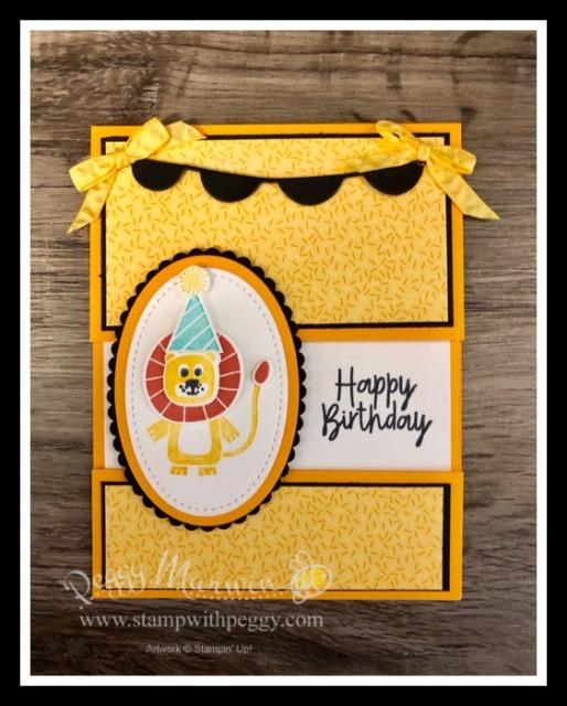 Stampin' Sisters Retreat, Birthday Bonanza Suite, Bonanza Buddies Stamp Set, Bonanza Dies, Birthday Bonanza Designer Paper, Fun Folds, Birthday, Stamp with Peggy