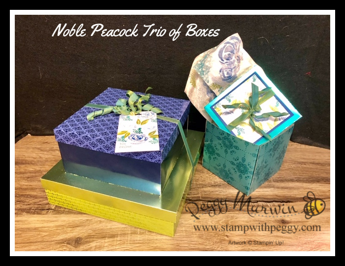 Stampin' Sisters Retreat – Trio of Boxes