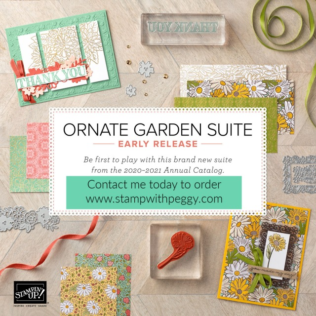 Ornate Garden Suite, Stamp with Peggy