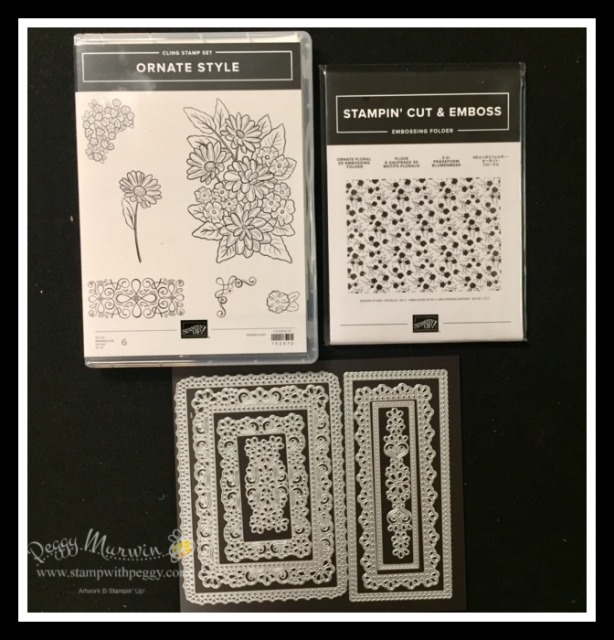 Ornate Garden Suite, Ornate Style Bundle, Ornate Style Stamp Set, Ornate Layers Dies, Ornate Floral 3D Embossing Folder, Stamp with Peggy