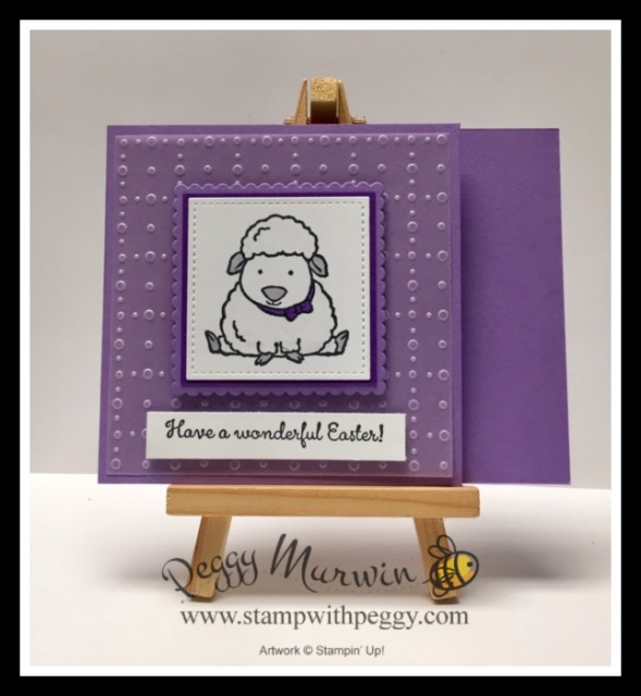 Welcome Easter Stamp Set, So Very Vellum Designer Paper, Sale-a-Bration, Easter Stamp with Peggy