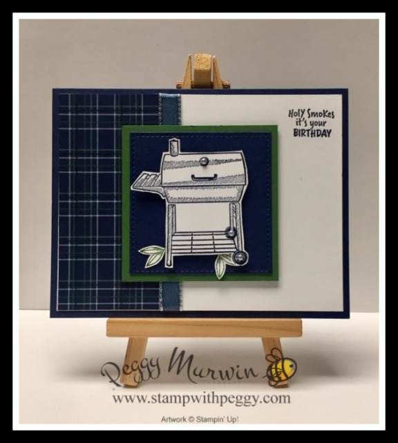 Outdoor Barbecue Stamp Set, Country Club Designer Paper, Birthday, Masculine Card, Stamp with Peggy