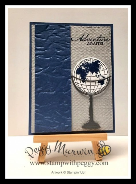 Misty Moonlight In Color, Beautiful World Stamp Set, World Map Dies, Tasteful Textile 3D Embossing Folder, Old World Paper 3D Embossing Folder, Masculine, New Annual Catalog, Stamp with Peggy