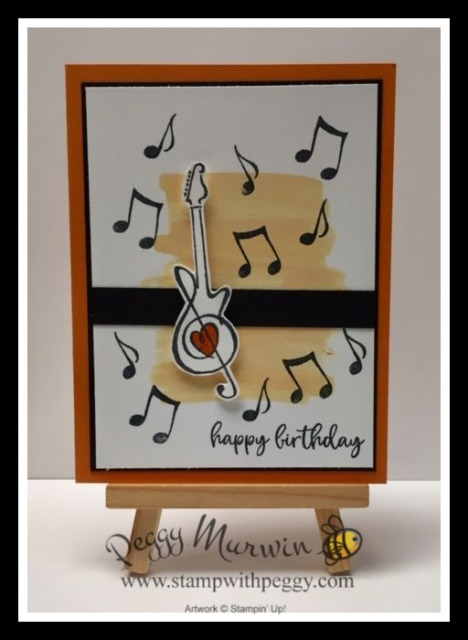 Music From the Heart Stamp Set, Teen Birthday, Birthday, Stamp with Peggy