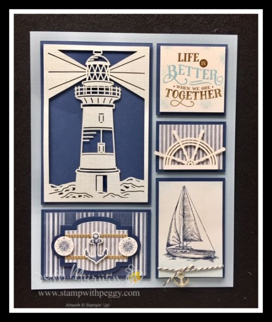 Come Sail Away Suite, Come Sail Away Memory & More Card Pack, Masculine, Nautical, Stamp with Peggy