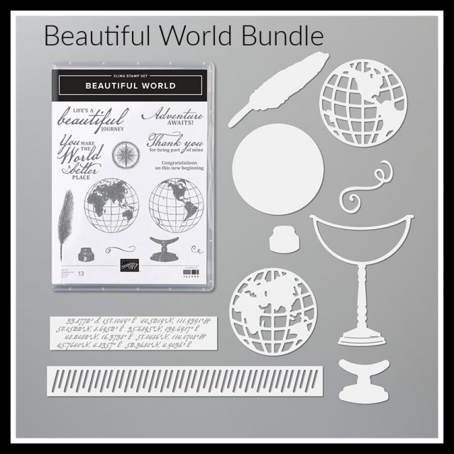 World of Good Suite, Beautiful World Bundle, World of Good Specialty Designer Paper, Tasteful Textile 3D Embossing Folder, Masculine, Stamp with Peggy