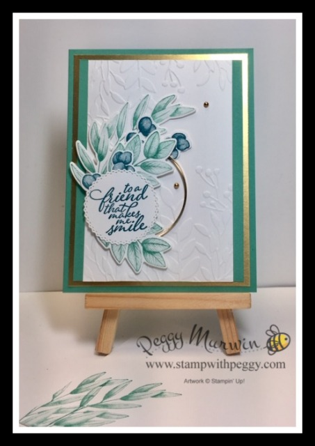Forever Greenery Suite, Forever Fern Bundle, Forever Fern Stamp Set, Forever Flourishing Dies, Forever Greenery Designer Paper, Forever Gold Laser-Cut Specialty Paper, Greenery Embossing Folders, Gold Hoops Embellishment, Forever Greenery Trim Combo Pack, Stamp with Peggy