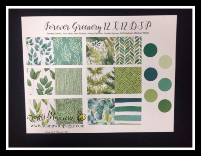 Forever Greenery Suite, Forever Flourishing Dies, Forever Greenery Designer Paper, Stamp with Peggy