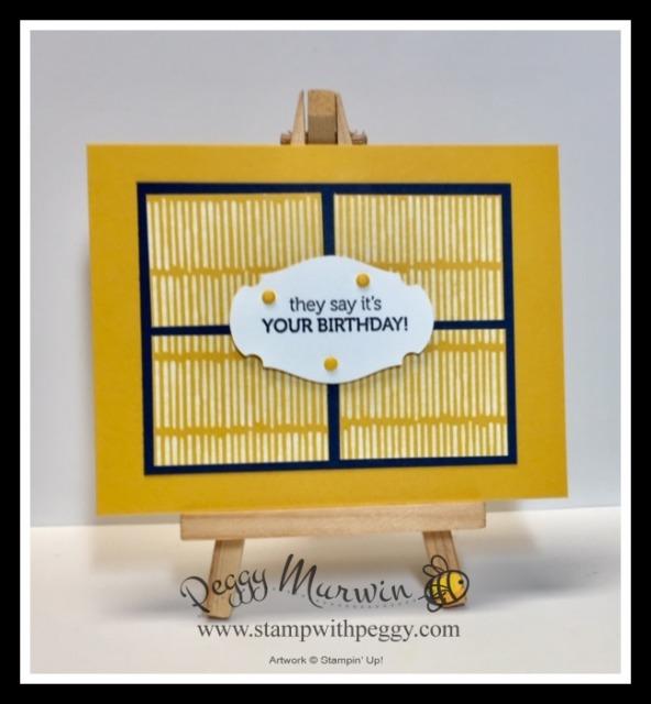 Playing with Patterns Designer Paper, Itty Bitty Birthday Stamp Set, Triple Wonder, Summer Splash, Stamp with Peggy